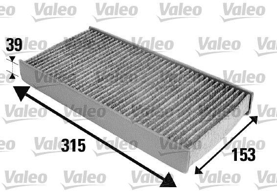 VALEO CLIMFILTER PROTECT 698884 Filter, Innenraumluft Länge: 315mm, Breite: 153mm, Höhe: 39mm