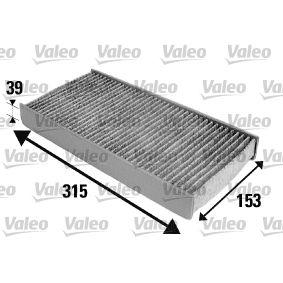 Filter, Innenraumluft Länge: 315mm, Breite: 153mm, Höhe: 39mm mit OEM-Nummer 6441 EJ