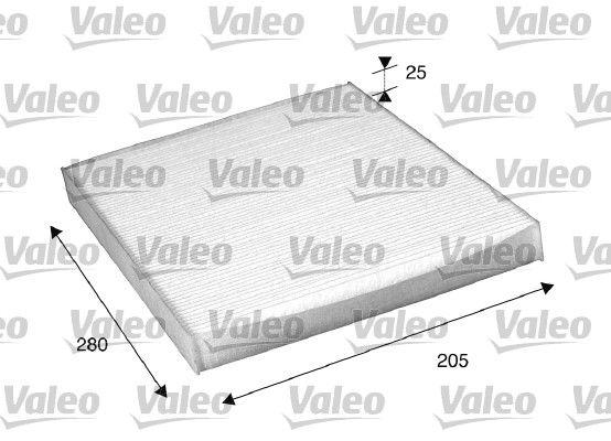 VALEO CLIMFILTER COMFORT 698885 Filter, interior air Length: 280mm, Width: 205mm, Height: 25mm