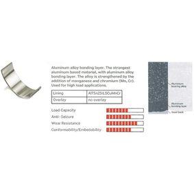 IPSA  CR112302 Pleuellager Menge: 4, Satz, Übermaß: 0,50mm