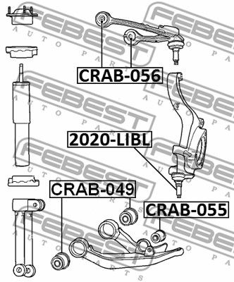 Supporto Braccio Oscillante FEBEST CRAB-049 valutazione