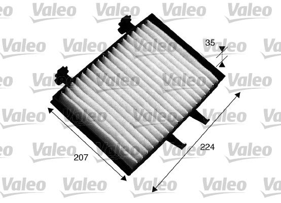 VALEO CLIMFILTER COMFORT 715547 Filter, Innenraumluft Länge: 224mm, Breite: 207mm, Höhe: 35mm