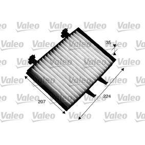 Filter, Innenraumluft Länge: 224mm, Breite: 207mm, Höhe: 35mm mit OEM-Nummer MR 360889