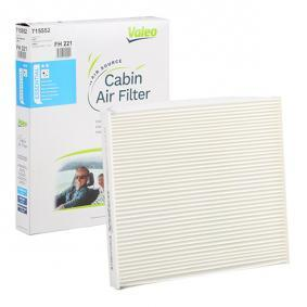 Filter, Innenraumluft Länge: 215mm, Breite: 265mm, Höhe: 21mm mit OEM-Nummer 55 702 468