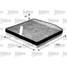 VALEO CLIMFILTER PROTECT 715571 Filter, Innenraumluft Länge: 278mm, Breite: 248mm, Höhe: 38mm