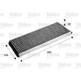 Filter, Innenraumluft Länge: 390mm, Breite: 144mm, Höhe: 26mm mit OEM-Nummer 893091700