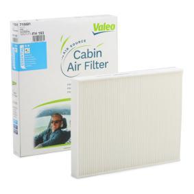 Filter, Innenraumluft Länge: 277mm, Breite: 219mm, Höhe: 30mm mit OEM-Nummer 7H0819631A