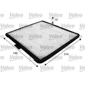 Filter, Innenraumluft Länge: 210mm, Breite: 199mm, Höhe: 10mm mit OEM-Nummer 9642-5700