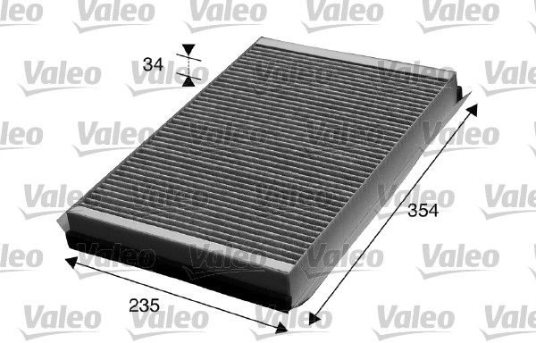 VALEO CLIMFILTER PROTECT 715602 Filter, Innenraumluft Länge: 360mm, Breite: 235mm, Höhe: 35mm