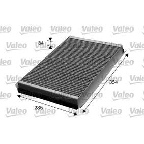 Filter, Innenraumluft Länge: 354mm, Breite: 235mm, Höhe: 34mm mit OEM-Nummer 2E0819638