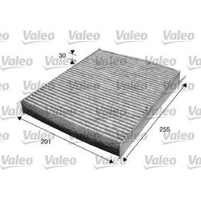 Filter, Innenraumluft Länge: 255mm, Breite: 201mm, Höhe: 30mm mit OEM-Nummer 6447-LN