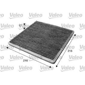 Filter, Innenraumluft Länge: 215mm, Breite: 214mm, Höhe: 20mm mit OEM-Nummer 8856802020