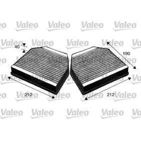 Filter, Innenraumluft Länge: 190mm, Breite: 212mm, Höhe: 40mm mit OEM-Nummer 2308300418