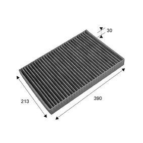 Filter, Innenraumluft Länge: 390mm, Breite: 213mm, Höhe: 30mm mit OEM-Nummer 4596501AB