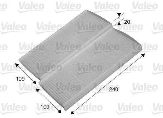 VALEO CLIMFILTER COMFORT 715649 Filter, Innenraumluft Länge: 240mm, Breite: 109mm, Höhe: 20mm