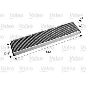Filter, Innenraumluft Länge: 512mm, Breite: 113,5mm, Höhe: 31mm mit OEM-Nummer 3401703