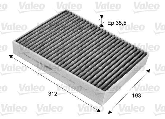 VALEO CLIMFILTER PROTECT 715704 Filter, Innenraumluft Länge: 278mm, Breite: 219mm, Höhe: 43mm
