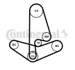 OEM CONTITECH CT1001K1 HONDA CR-V Timing belt kit