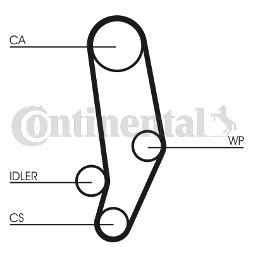 Water Pump + Timing Belt Kit CONTITECH CT704WP1 rating