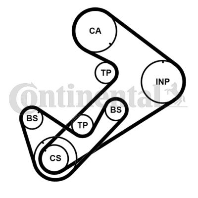 Kit de Distribución CT921K3PRO CONTITECH CT1107K1 en calidad original