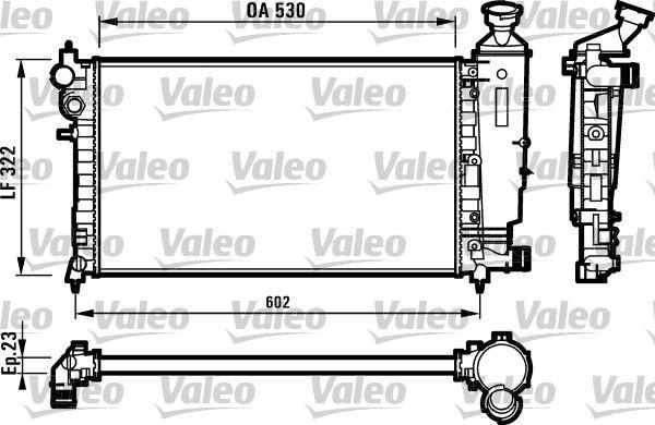 VALEO  731526 Radiador, refrigeración del motor
