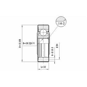 Gelenksatz, Antriebswelle mit OEM-Nummer 701 498 103 A