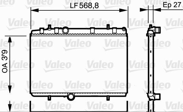 VALEO  734338 Radiador, refrigeración del motor