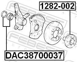 Cojinetes de rueda FEBEST DAC38700037 evaluación