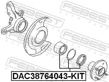 Radlager FEBEST DAC38764043-KIT Bewertung