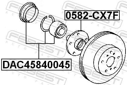 Rodamiento de Rueda FEBEST DAC45840045 evaluación