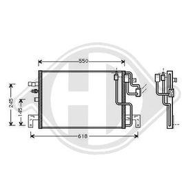 DIEDERICHS  DCC1367 Kondensator, Klimaanlage Netzmaße: 505x348x16