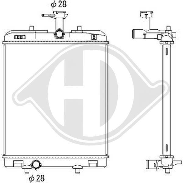 DIEDERICHS  DCC1586 Kondensator, Klimaanlage Netzmaße: 520x362x16, Kältemittel: R 134a