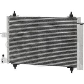 Kondensator, Klimaanlage Netzmaße: 520x362x16, Kältemittel: R 134a mit OEM-Nummer 6455.Y9