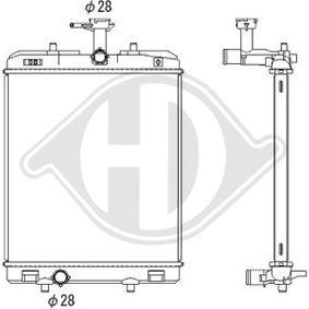 Kondensator, Klimaanlage Netzmaße: 520x362x16, Kältemittel: R 134a mit OEM-Nummer 6455-AT