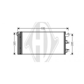 Condenser, air conditioning DCC1635 PANDA (169) 1.2 MY 2010