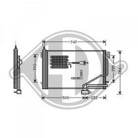 Kondensator, Klimaanlage Kältemittel: R 134a mit OEM-Nummer A203 500 13 54