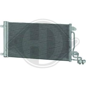 Kondensator, Klimaanlage Netzmaße: 575x335x16, Kältemittel: R 134a mit OEM-Nummer 6R0820411M