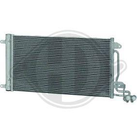 Kondensator, Klimaanlage Netzmaße: 575x335x16, Kältemittel: R 134a mit OEM-Nummer 6R0 820 411 T