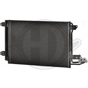Kondensator, Klimaanlage Netzmaße: 550x390x16, Kältemittel: R 134a mit OEM-Nummer 1K0820411B