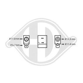 Разширителен клапан, климатизация DCE1091 25 Хечбек (RF) 2.0 iDT Г.П. 2002