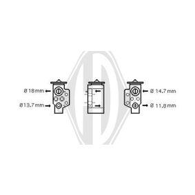 Expanzní ventil, klimatizace DCE1094 Octa6a 2 Combi (1Z5) 1.6 TDI rok 2010