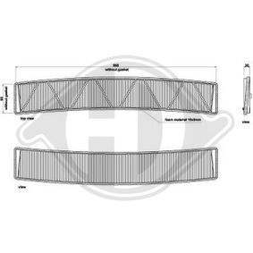 Filter, Innenraumluft Länge: 675mm, Breite: 125mm, Höhe: 25mm mit OEM-Nummer 6431 9257 504