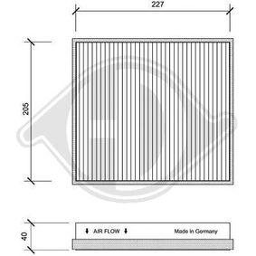 Filter, Innenraumluft Länge: 237mm, Breite: 215mm, Höhe: 40mm mit OEM-Nummer 163 835 02 47