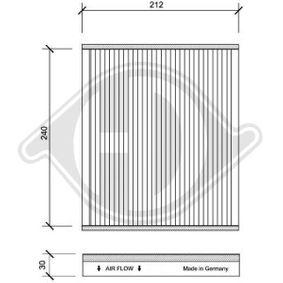 Filter, Innenraumluft Länge: 212mm, Breite: 250mm, Höhe: 30mm mit OEM-Nummer 9 552 8291