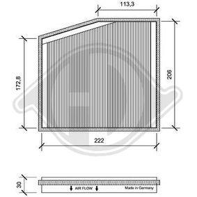 Filter, interior air DCI0091-1 PUNTO (188) 1.2 16V 80 MY 2002