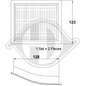 Filtro, aire habitáculo DCI0099S 3 Compact (E36) 316i 1.9 ac 2000