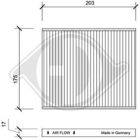 Filter, interior air DCI0108 PANDA (169) 1.2 MY 2004