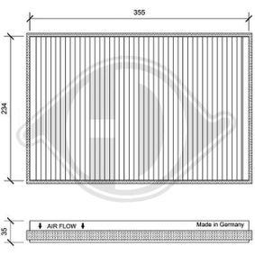 Filter, Innenraumluft Länge: 365mm, Breite: 244mm, Höhe: 35mm mit OEM-Nummer 9068300218