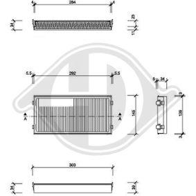 Filter, Innenraumluft Länge: 300mm, Breite: 145mm, Höhe: 160mm mit OEM-Nummer 64119248294