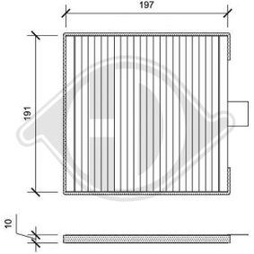 Filter, Innenraumluft Länge: 200mm, Breite: 198mm, Höhe: 10mm mit OEM-Nummer 96425700